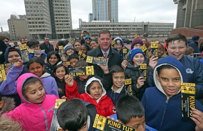 「國王圖卡:黃金法老的財富」巡迴展波士頓站擬對波士頓公校學生免費。(波士頓市長辦公室提供)