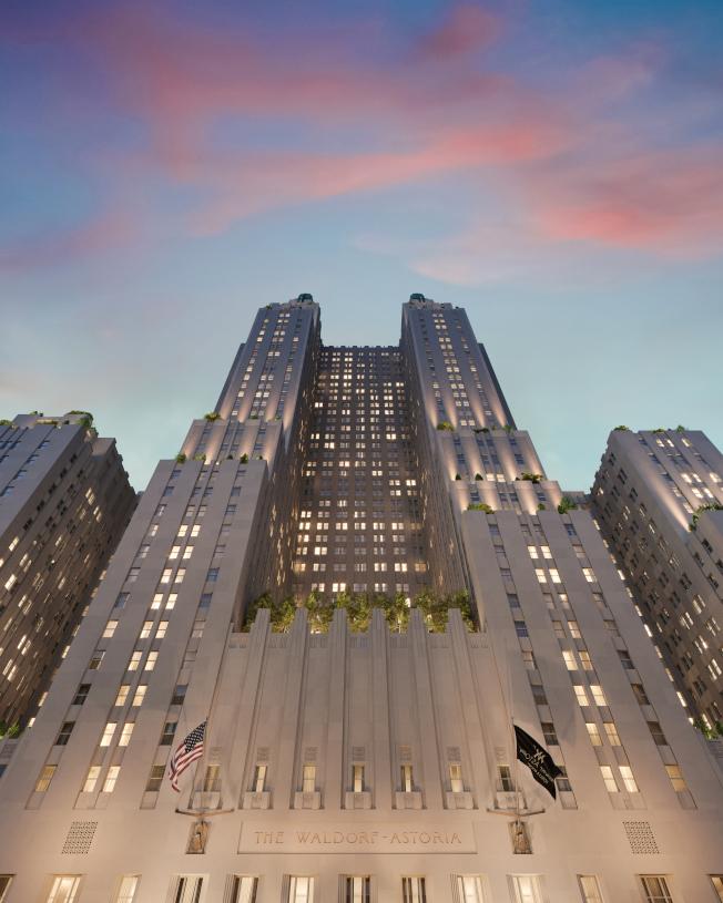 華爾道夫酒店改建工程接近尾聲,2月起公寓部分將開售。(大家保險集團提供)