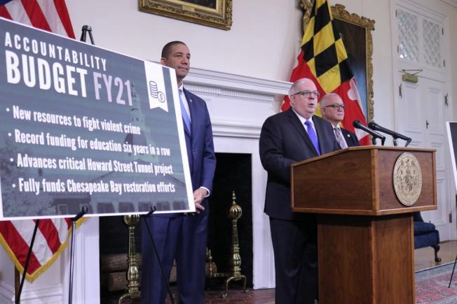 霍根公布2021財年預算,打擊犯罪、提振教育仍是重點。(州長辦公室)