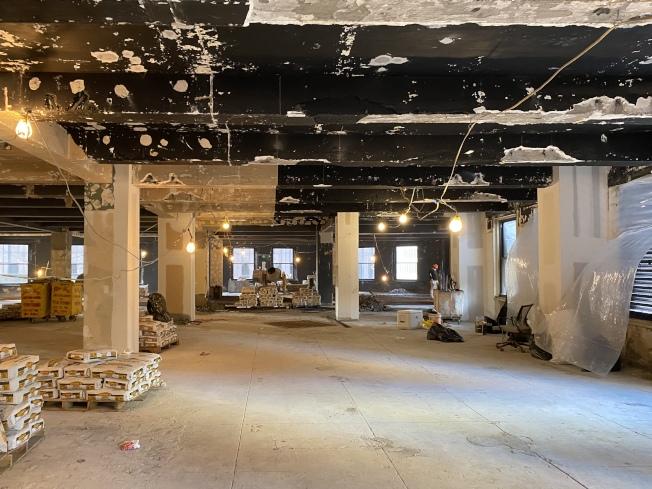 千禧高中校址將擴建14樓。(記者金春香/攝影)