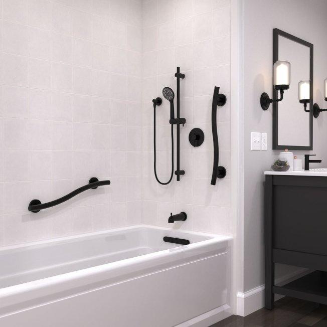 在衛浴、樓梯、門廊、走廊等各地加裝一些扶手,方便耆老行動。(圖片取自電商grab-bar.com)