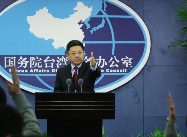 中國國台辦發言人馬曉光15日重申,「九二共識」是兩岸關係和平發展的定海神針。(中新社)