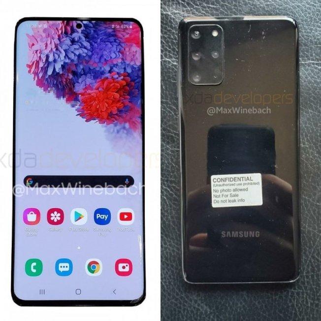 三星發表會即將在 2 月舉行,但新機 Galaxy S20+ 的照片提前流出,是一款 4 鏡頭的旗艦手機。圖/擷自xda-developers