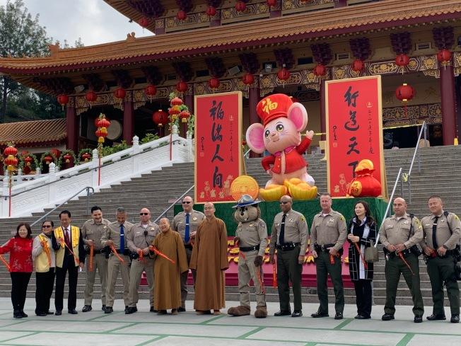 西來寺16日舉辦新春除夕記者會。(記者張宏/攝影)