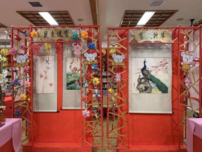 慶新春系列活動期間,佛光山紐約道場各層樓都精心規畫和布置。(記者劉大琪/攝影)