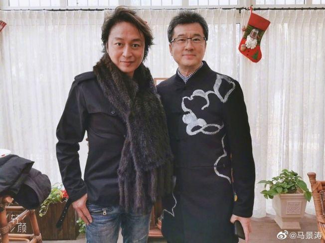57歲的馬景濤(左)看起來有些滄桑。(取材自微博)