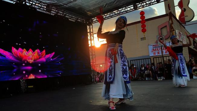珠珠舞蹈社表演。(記者李雪╱攝影)