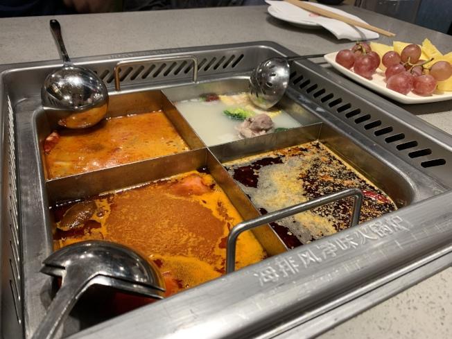 吃火鍋盡量選擇較清淡的湯底,以免攝取太多熱量。(記者賴蕙榆/攝影)
