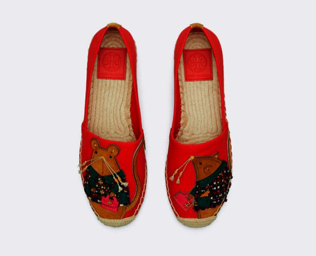 托里·伯奇的老鼠圖案女鞋。(取自官網)