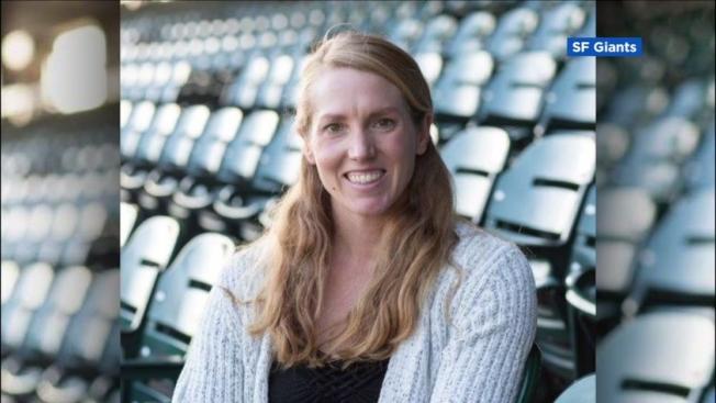 舊金山作出一項大聯盟的創舉,聘用29歲艾麗沙‧納肯(Alyssa Nakken)為全職教練,這是第一次大聯盟有全職的女教練。(Getty Images)
