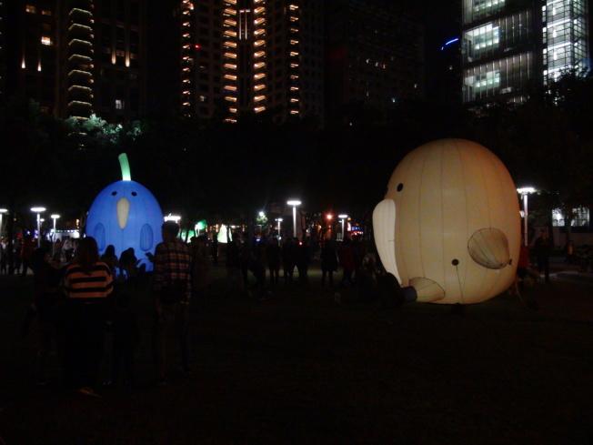 2020台灣燈會在台中舉行,因花燈多為易燃物,台中市府公告燈會全區禁止施放爆竹煙火。(記者余采瀅/攝影)