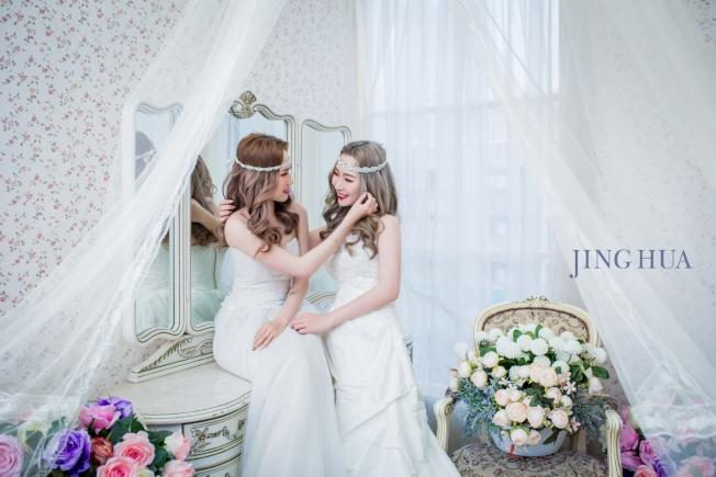 除了傳統婚紗,閨密、親子、寵物寫真也受歡迎。(圖:京華婚紗提供)