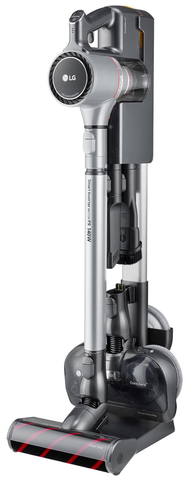 LG手持無線吸塵器濕拖版。(圖:全國電子提供)
