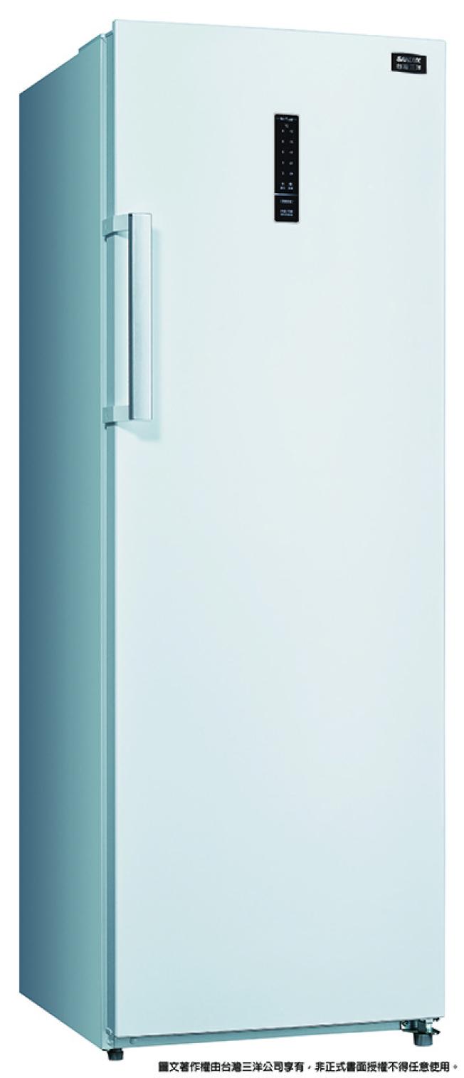 台灣三洋250L直立式冷凍櫃。(圖:全國電子提供)