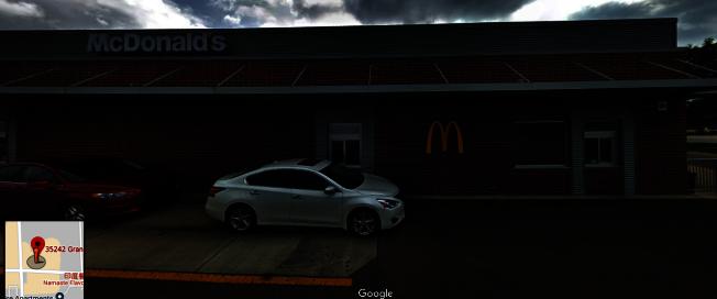蔡惠蓉去年1月10日晚到位於福明頓小丘的一家麥當勞得來速購餐,對方突然模仿亞裔腔調戲弄她。(谷歌地圖截圖)