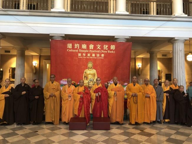 文化節以佛教祈福儀式開場。(記者張晨/攝影)