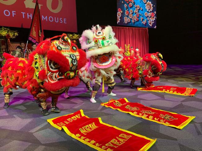迪士尼慶祝農曆鼠年。(記者張宏/攝影)
