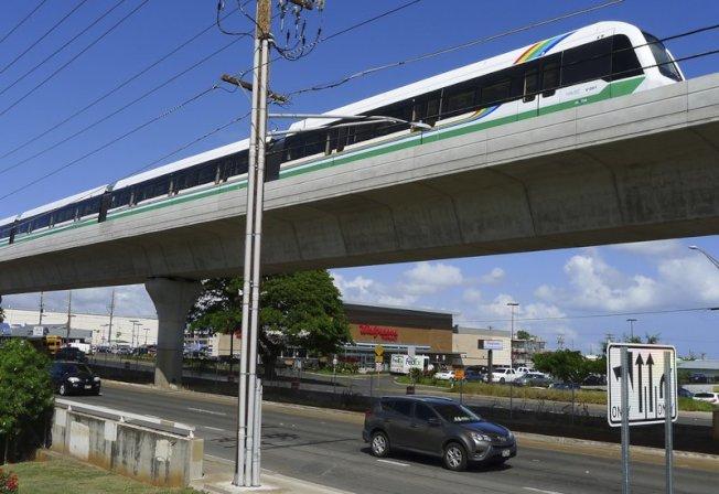 檀香山輕軌工程浩大,是帶動未來發展的一項重要投資。(美聯社)