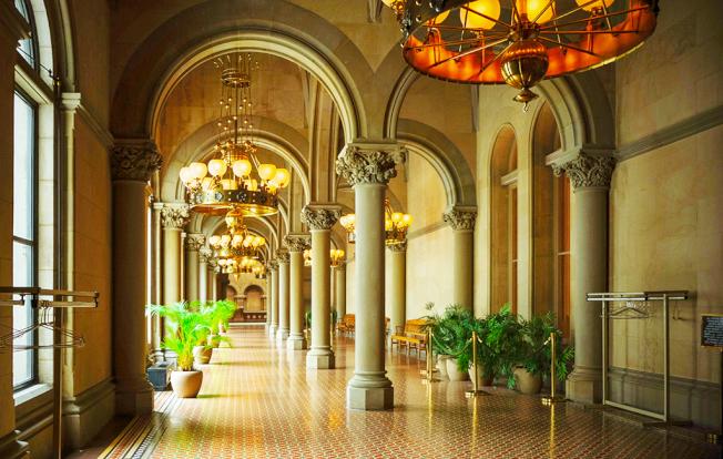 復古典雅風格的走廊。(圖皆為作者提供)