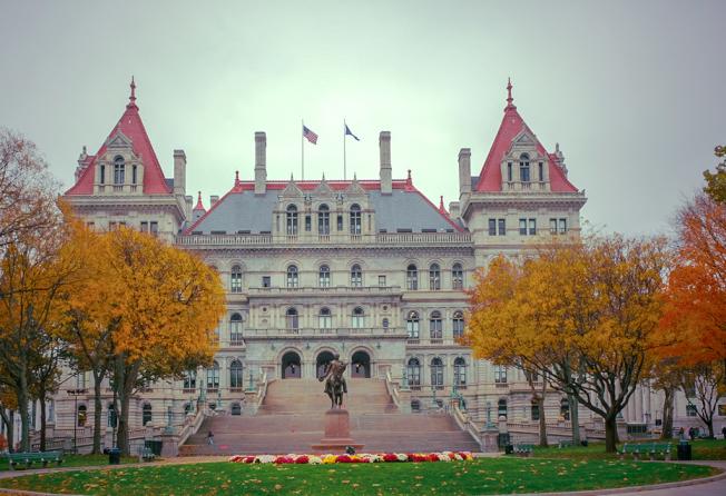 氣派豪華的紐約州議會大廈。(圖皆為作者提供)