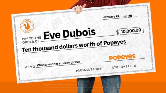 佰百雞贈送杜伯斯價值1萬元的炸雞。(圖/佰百雞推特)