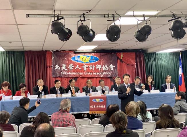 北美華人會計師協會2020年新春首次新稅法講座。(記者尚穎╱攝影)