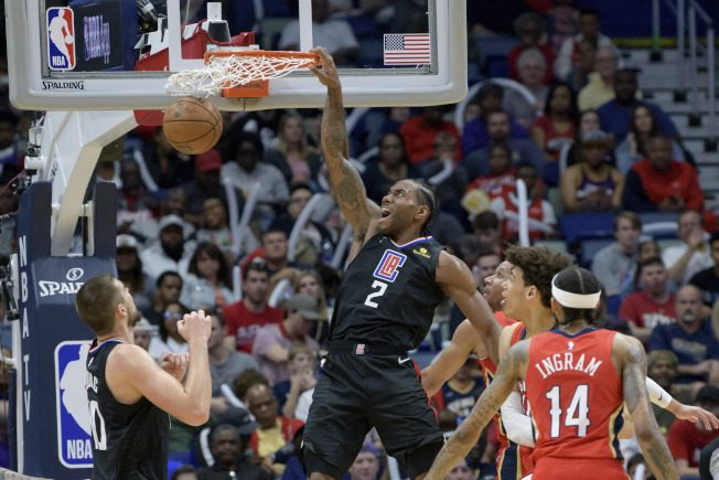 NBA/雷納德連5場得分30+ 快艇勝鵜鶘