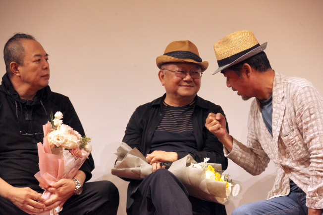 張鐵林(右起)、王剛、張國立鐵三角組合讓人懷念。(中新社資料照片)