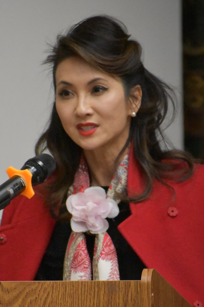 第1席法官候選人華裔李華平。(記者李秀蘭/攝影)