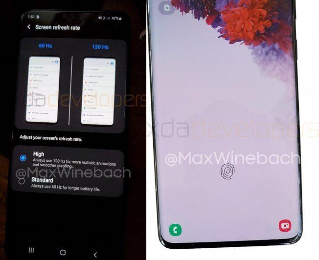 Galaxy S20+ 螢幕更新率達120Hz