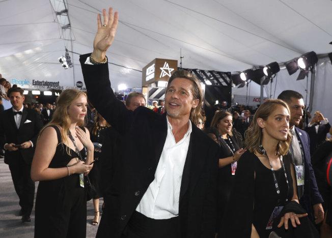 布萊德彼特獲得憑藉「從前,有個好萊塢」獲得演員工會獎最佳男配角。(美聯社圖片)