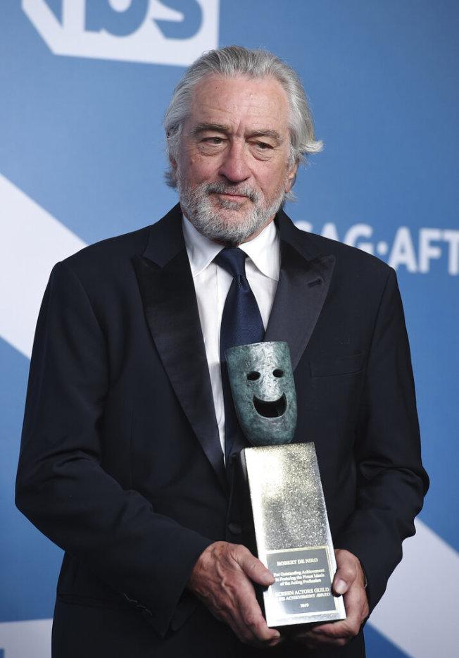 勞勃狄尼洛獲得演員工會獎終身成就獎。(美聯社圖片)