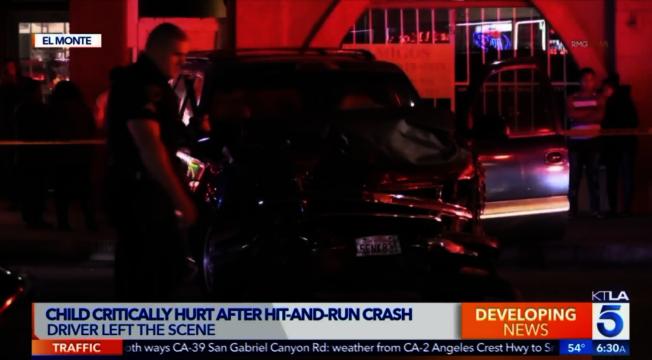 艾爾蒙地市18日晚發生重大車禍。(取材自KTLA)