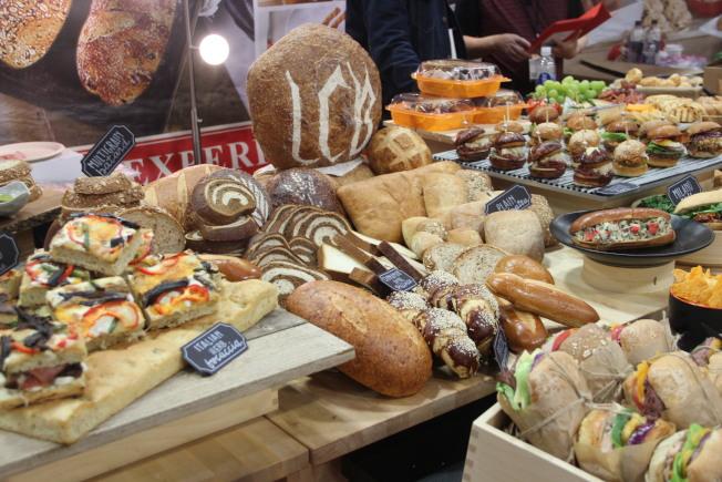 歐式的烘焙展示。(記者李晗 / 攝影)