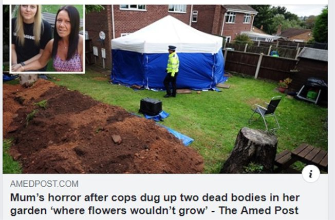 後院無法種花,原因竟是地底下埋有屍體。圖/取自The Amed Post臉書