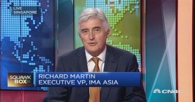 IMA Asia董事總經理馬丁(Richard Martin)認為,美中第一階段貿易協議有50%的機率會失效。圖片擷自CNBC網站
