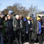金恩紀念日 民主黨總統參選人不吵了 「手牽手」上街