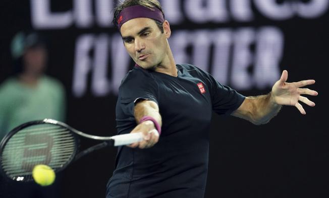 費德勒闖過澳網男單首輪。(美聯社)