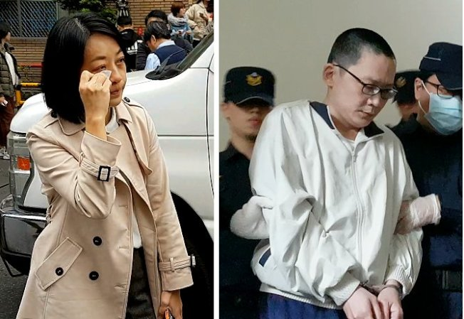 王婉諭(左圖)希望高院更一審判殺害女兒「小燈泡」的凶手王景玉(右圖)死刑。(本報資料照片)
