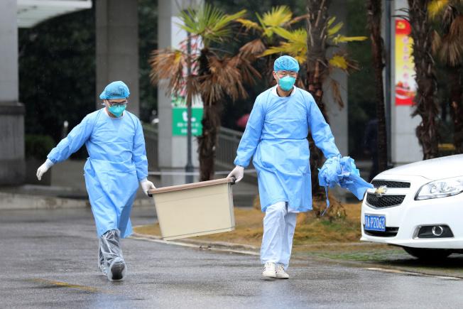 中國官方媒體報導,武漢病毒已出現人傳人病例。 路透
