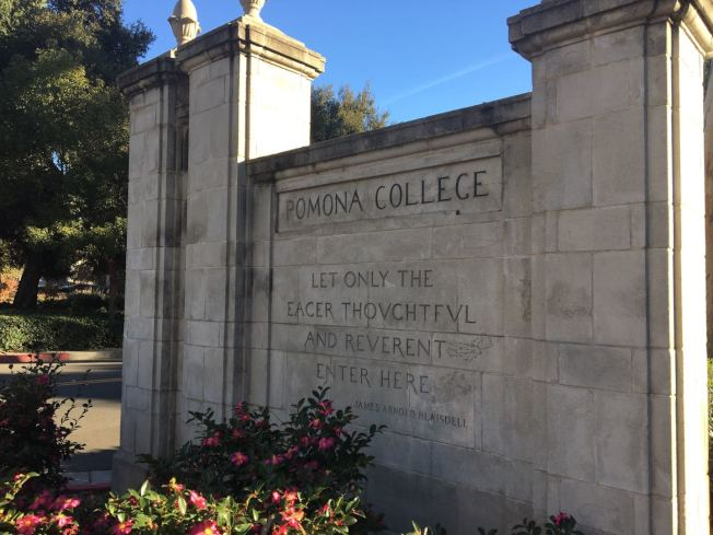 克萊蒙大學聯盟中Pomona College建立較早,該校校長布雷斯戴爾1925年創立大學聯盟。(記者啟鉻/攝影)