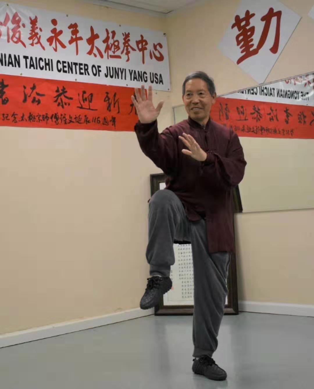 楊式太極拳第五代傳人楊俊義。