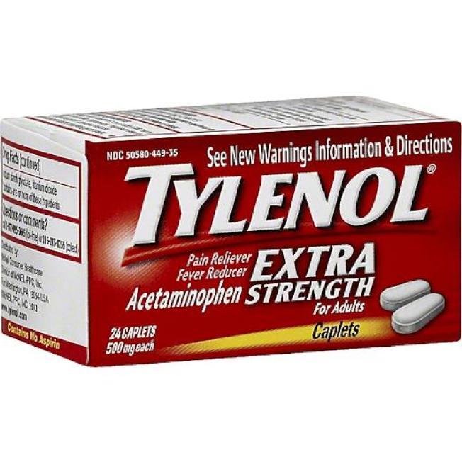 加州政府考慮將常見的泰樂諾,列為致癌物,但聯邦政府反對。(網路照片)