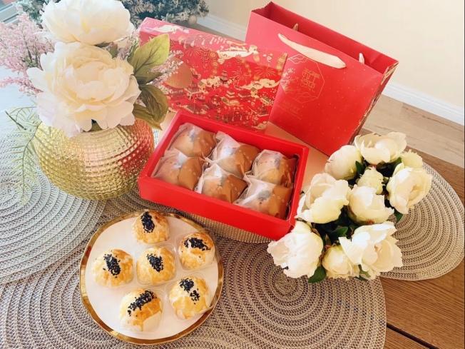 自製的蛋黃酥禮盒。(讀者提供)