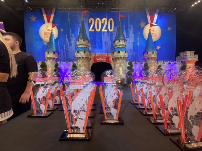 2020世界大學杯啦啦隊錦標賽獎盃。(廖志華提供)