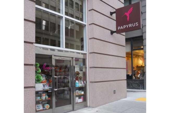 舊金山一家Papyrus分店。(取自推特)