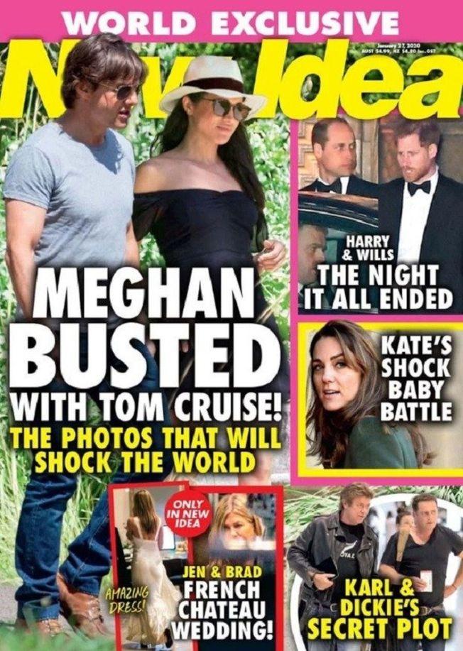 八卦刊物指梅根與湯姆克魯斯在一起「被抓到」。(網頁截圖)