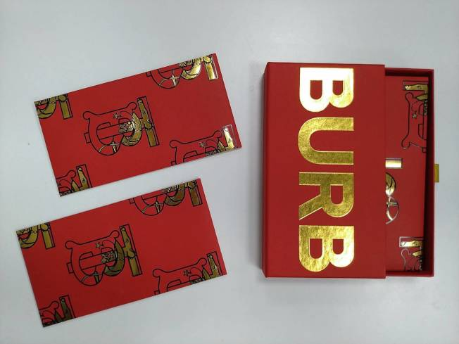 BURBERRY以TB Logo換上生肖鼠的圖案,金、紅配色喜氣洋洋。記者黃仕揚/攝影
