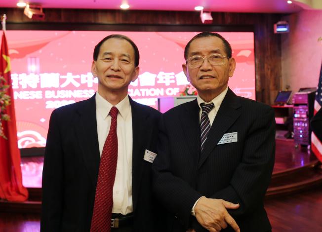 中國商會理事李志華(左)與王曉衡。(記者張蕙燕/攝影)