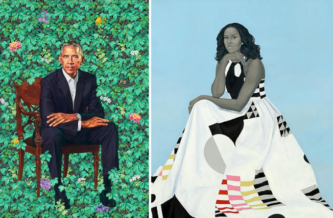 歐巴馬及米雪兒的肖像作品將於全美五大城市的巡迴展出。(國家肖像藝術館官網)